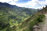 A spectacular view of the Ecuadorian Andes hiking the Quilotoa Loop - 192647152