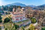Aerial view of Villa Toeplitz in Sant Ambrogio of Varese, Italy - 192650360