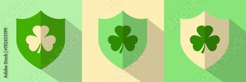Irish Shamrock Shield Icons