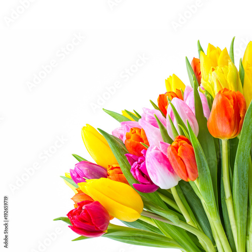 Bunter Blumenstrauß als Geschenk zu Ostern
