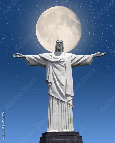 Fotobehang Rio de Janeiro Rio De Janeiro, Christ the Redeemer Statue