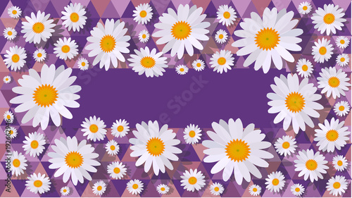 daisy background purple