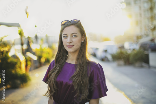 Foto Murales Beautiful girl with blue eyes
