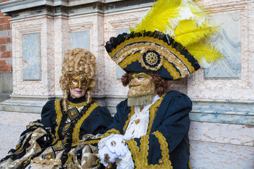 Masks in Carnival of Venice.