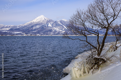 Plakat Inuashashiro Lake Spray ice