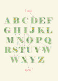 Alphabet with encrypted text - I am down with you