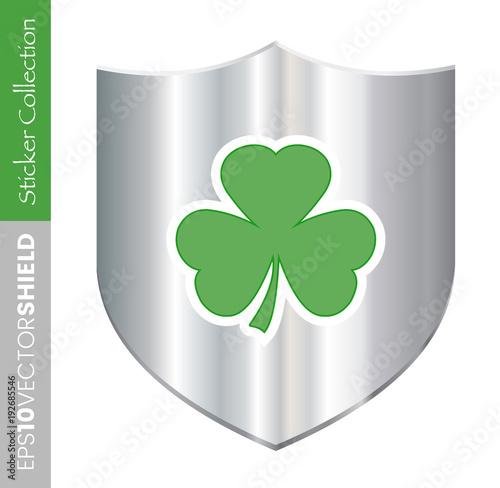 Irish Shamrock Shield Icon