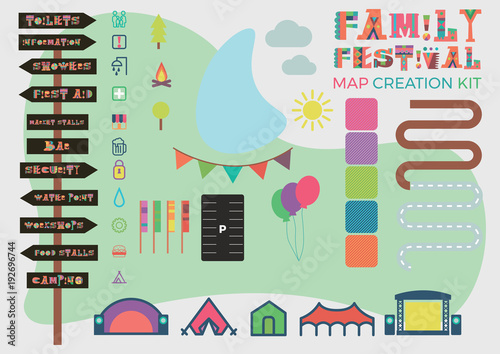 Family Festival Map Building Kit for your event