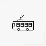trolleybus line icon