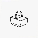 camping basket line icon - 192712361
