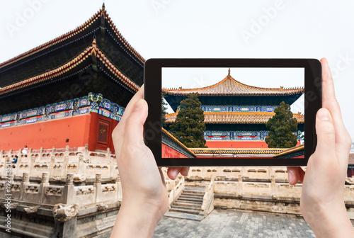 Papiers peints Pekin tourist photographs Taimiao Temnple in Beijing