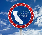 Silicon Valley in California - map illustration