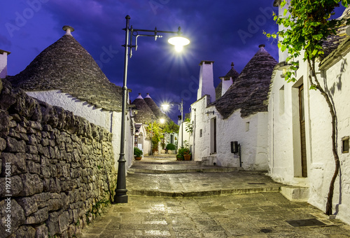 Alleys of Alberobello, Puglia, Italy