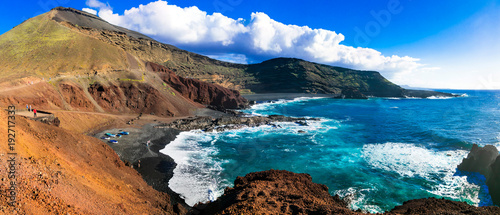 Plexiglas Freesurf Unique nature of volcanic beautiful Lanzarote . Canary islands