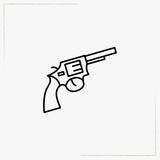revolver line icon - 192718353