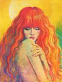 beautiful woman. fashion illustration. watercolor painting - 192718774