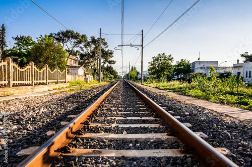 Papiers peints Voies ferrées Infinity tracks rail