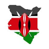 Kenya Flag Country Contour Vector Icon - 192719731