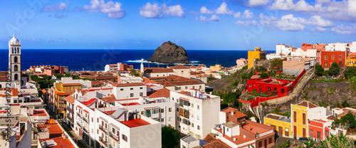 Plexiglas Freesurf Landmarks and beautiful places of Tenerife - colorful town Garachico, Canary islands