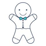 christmas sweet ginger cookie vector illustration design - 192722702