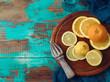 Quadro Orange and lemon fruits