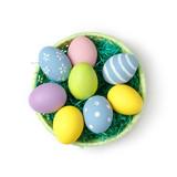 Easter eggs in basket - 192731748