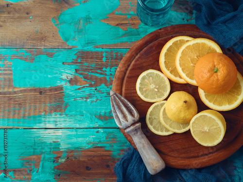 Orange and lemon fruits