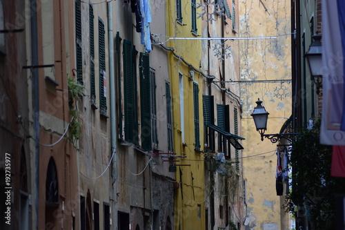 Typical Italian narrow street in a village