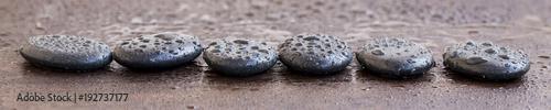 Staande foto Spa Spa massage stones