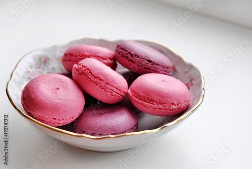 Foto op Aluminium Macarons macarons on the plate