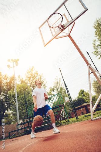 Fotobehang Basketbal Street Basketball Payer