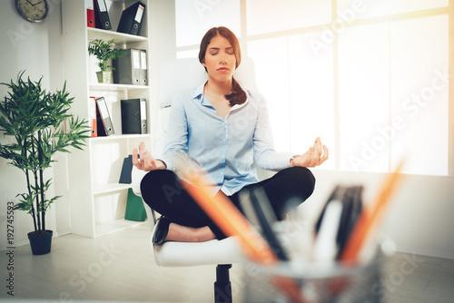 Fototapeta Meditation To Success