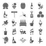 Wine simple icons set for web and mobile design - 192747362