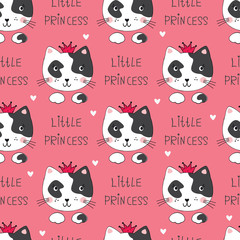 Seamless pattern with cute cats © annata78