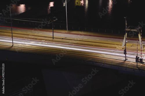 Deurstickers Nacht snelweg Erasmusbrug Erasmus Bridge in Rotterdam