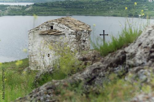 Papiers peints Vieux rose Old stone church, Bulgaria