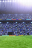 soccer field with lights 3d rendering