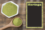 Organic moringa powder - space for text - 192766368