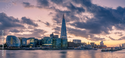 Panorama of the South Bank of the Thames River © Mister Dreamer