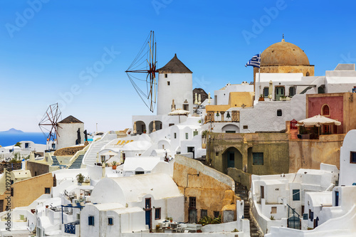 Fototapeta View of the city of Oia. Santorini Island in Greece
