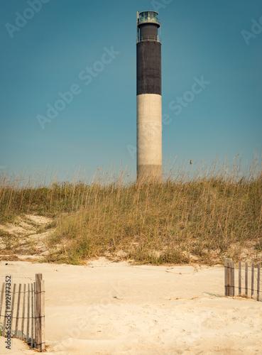 Aluminium Beige lighthouse ocean scene on beach