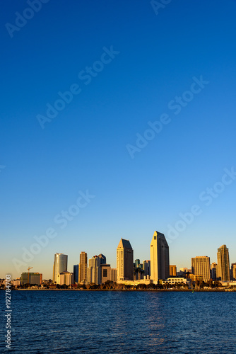 Poster New York Vertical Image of San Diego Skyline