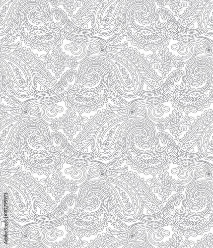 black and white paisley pattern - 192795973