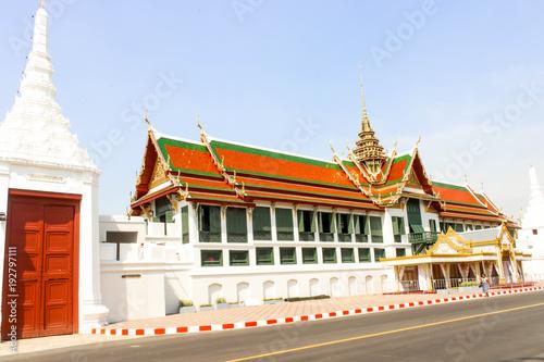 Keuken foto achterwand Bangkok Landscape Thai architecture Grand palace and Wat phra keaw in Bangkok,Thailand