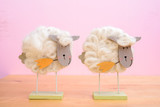 funny sheep in front of pink background - 192799781