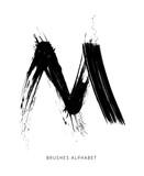 Alfabeto Spennellato Lettera M