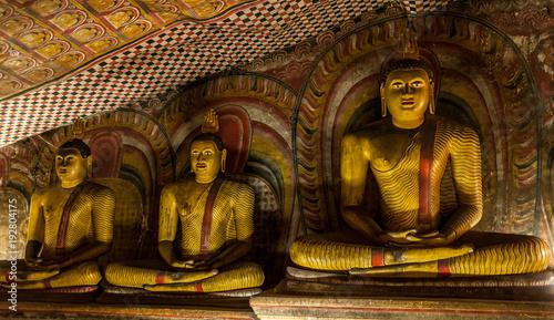 Staande foto Boeddha Buddha statues in the temple of Sri Lanka