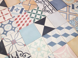 ceramic texture made of vintage tiles. Spanish style seamless pattern - 192804316