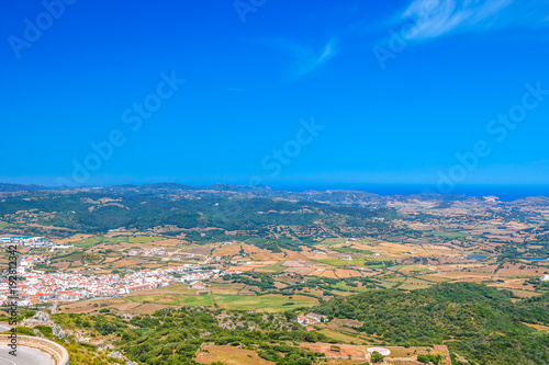 Es Mercadal Town Area Viewed from Monte Toro