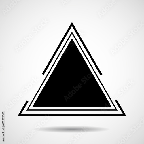 Creative logo of triangle. Geometric shape. Vector design element